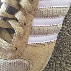 adidas Shoes - NWOT Adidas tan and blush pink sneakers